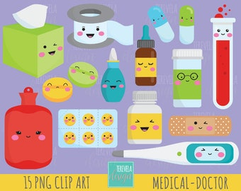 50% SALE DOCTOR clipart, medicine clipart, kawaii clipart, commercial use, health clipart, medical graphics, healthcare clipart/cute graphic