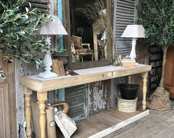Rustic, vintage console / hall table