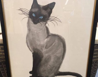 Zack & Zoe Siamese Cat Watercolor  Lithographs