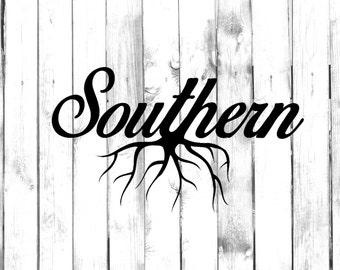 Southern Home Grown (Centered Roots) - Car/Truck/Computer/Home Decal