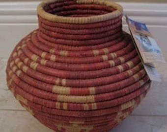 coiled woven basket