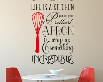 Apron Decals Etsy - How do you put up wall art stickers