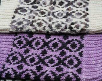 2-Color wool cowl - Custom Color combinations