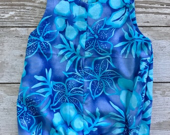 Teal Hawaiian Romper
