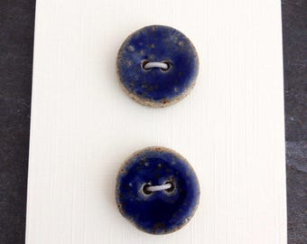 Stoneware buttons, set of 2