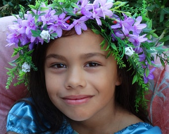 RTS- Lavender blooms Flower Wreath #child 7 Adult