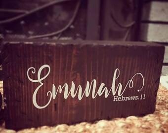 Emunah Wood Block