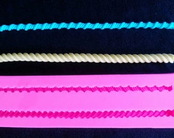 Rope Silicone Mold, Fondant, Clay, Soap, Gumpaste.