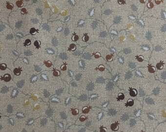 Half yard- Mrs March's Collection in Antique-Printed by LECIEN - leaves in light brown background