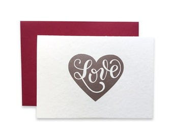 Letterpress Love Card