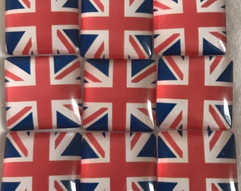 Union Jack Flag Thumbtacks or Magnets