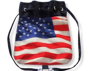 Flag Tote Bag-Red White Blue Tote Bag-American Flag Backpack-Backpack-Cinch Bag-Shoulder Bag-Crossbody Bag-Messenger Bag-Adjustable Tote Bag