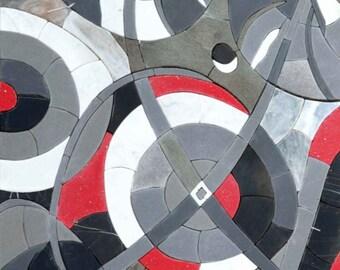 3D Abstract Mosaic - Swirl