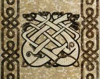 Celtic Dogs Marble Mosaic