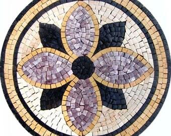 Mosaic Medallion - Purple Con
