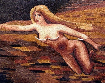 Woman in Clouds Mosaic