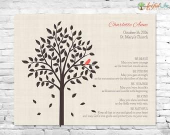 CHRISTENING GIFT, Christening Gift Print, Baptism Gift Print, Baptism Tree, Boy Christening, Boy Baptism, Girl Baptism, Girl Christening