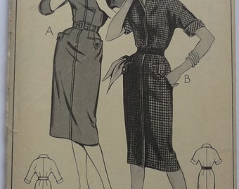 "Vintage sewing pattern. Style 1177, dress pattern bust 34"""