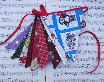 Christmas bunting, Holiday bunting, Christmas garland, Christmas banner, Christmas flags, festive bunting, festive garland, festive banner