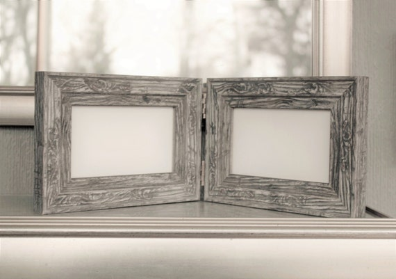 Double Hinged Frames Distressed Barn Wood Rustic Frame