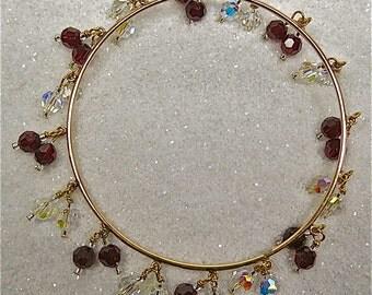 Aurora Borealis Swarovski Crystal Bangle Bracelet