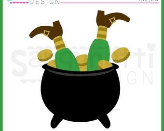 St. Patrick's Day Cliaprt, Leprechaun clipart, pot of gold cliaprt, leprechaun feet, instant download