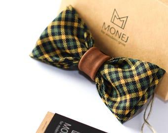 Green Bow Tie, Tartan Bow Tie, Christmas Bow Ties, Retro Bow Tie, Mens Gift, Father Gifts, Wedding Bowties, Groom Bow Tie, Groomsmen Bowties