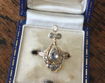 An Antique Rose Cut Diamond Ring