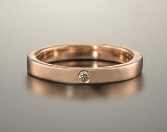 Gold ring 14k, Gold ring band, 14k Rose gold ring, Wedding band rose gold, Rose gold diamond ring, Wedding band women, Rose gold jewelry 18k