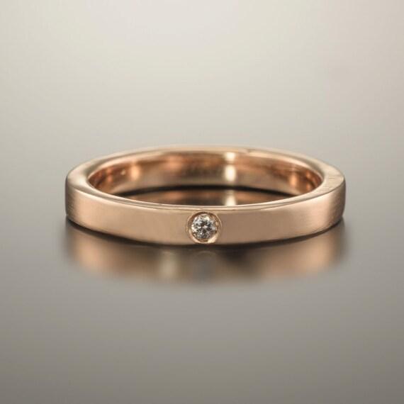 Gold ring 14k, Gold ring band, 14k Rose gold ring, Wedding band rose gold, Rose gold diamond ring, Wedding band women, Rose gold jewelry 18k