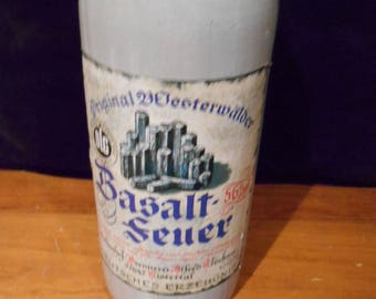 Rare Vintage German Basalt Feuer (Basalt Fire)  CERAMIC LIQUEUR CONTAINER