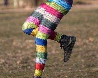 Wool Leggings, Yoga Leggings, Wool Tights, Yoga Pants, Women Activewear, Printed Leggings, Funky Leggings, Printed Tights, Cute Leggings