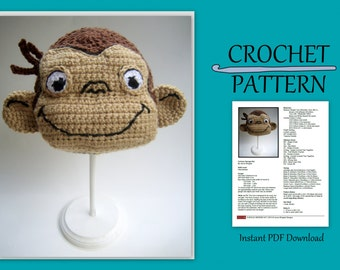 Curious George Hat // Instant PDF Download //DIY // Baby gift // Hat // Beanie // Make your own // kid gift // Halloween costume