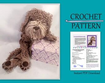 Labradoodle Blankie Buddy Crochet Pattern // Bonus Goldendoodle parts // Instant PDF Download // Baby gift // Photo prop // DIY // Snuggly