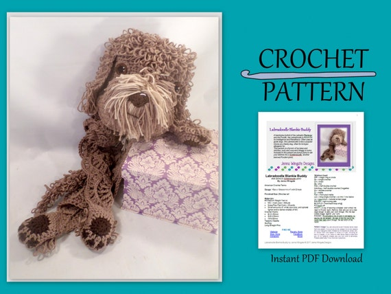 Labradoodle Blankie Buddy Crochet Pattern // Bonus Goldendoodle parts // Instant PDF Download // Baby gift // Photo prop // DIY // Snuggly