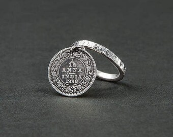 Ring and coin of India / Indian coin and silver ring