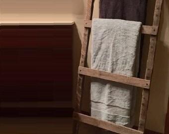 Rustic Wood Pallet Furniture Outdoor Furniture Towel Ladder Towel Storage Quilt Display Reclaimed Pallet Wood Towel Rack Rustic Home Decor