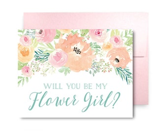 Will You Be My Bridesmaid Card, Bridesmaid Cards, Ask Bridesmaid, Bridesmaid Maid of Honor Gift, Matron of Honor, Flower Girl #CL314