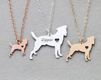 Jack Russell Terrier Dog Necklace • Pet • Custom Dog Charm • Dog Lover • Dog Mom Birthday Idea Personalized Dog Engraved Pet