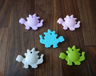 Silicone Dinosaur Teether/Pendant