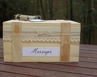 Box - ballot box wedding wood range: country chic wedding 2 |