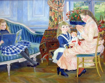 Pierre Auguste Renoir: Children's Afternoon at Wargemont. Fine Art Print/Poster. (004261)
