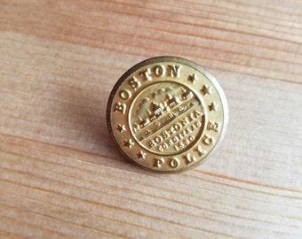 Vintage Boston police bostonia condita ad 1630 button. Lot of 1. (Feb13)