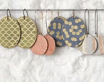 colorful metallic earrings