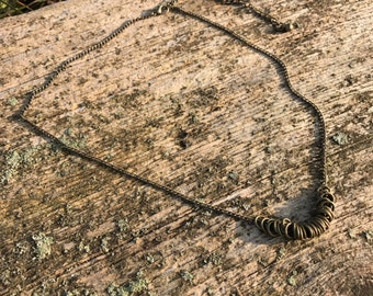 Loop Necklace. Antique Necklace. Joanna Gaines Necklace. Joanna Gaines Jewelry. Rustic Necklace.  Elegant Necklace Dainty Necklace. Elegant.
