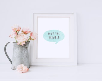 Speech Bubble print