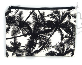 Palm Trees zipper pouch, pencil case, make up bag, canvas purse, card holder, back to school