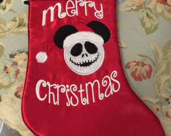 Jack Skeleton Nightmare before Christmas Custom Made Christmas Stocking - Personalized