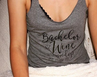 Bachelor Tank Top // gifts for her // bachelor monday // wine tank // bachelor // bachelorette // rachel lindsay // girls night