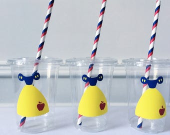Snow White Party Cups, Princess Party Cups, Snow White Party Favors, Snow White Birthday Party